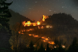 Klosternacht Felsmassiv OybinKlosternacht Felsmassiv Oybin