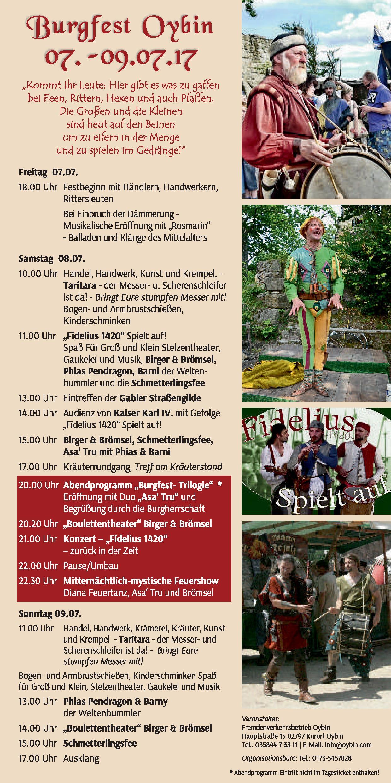Burg und Klosterfest 2017